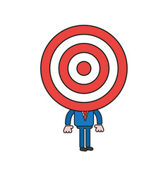 businessman character with bulls eye head color vector image