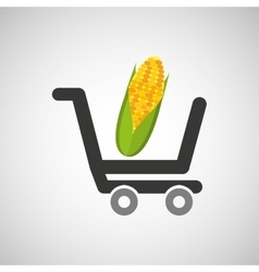 Cart buy cob icon design vector