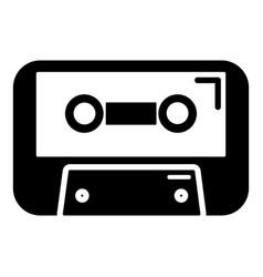 cassete tape icon simple style vector image