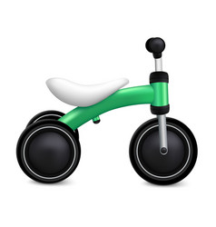 Child tricycle icon realistic style vector
