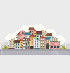 City street horizontal vector