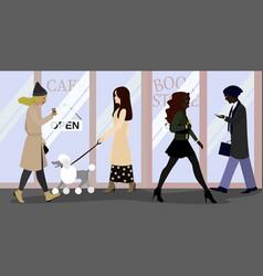 Citylife people on street vector