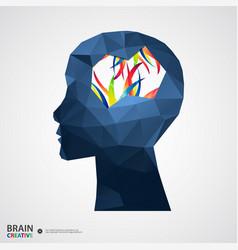 Creative concept human head vector