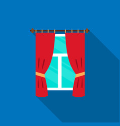 Curtain icon of for web and vector