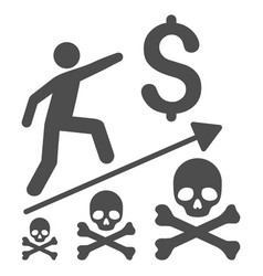 Deadly business achievement flat icon vector