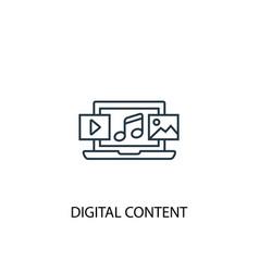 Digital content concept line icon simple element vector