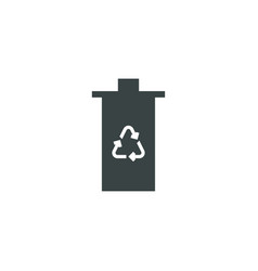 eco trash icon simple vector image