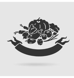 Emblem Vegetables vector image