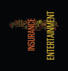 Entertainment insurance for the creative soul vector