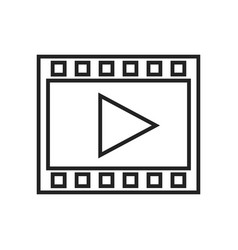 film frame linear icon vector image