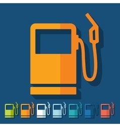 Flat design gas station vector