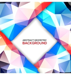 Geometric 3D background vector