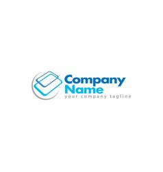 Glass service logo design vector
