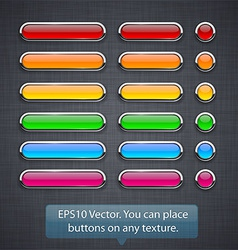 Glossy high-detailed buttons vector