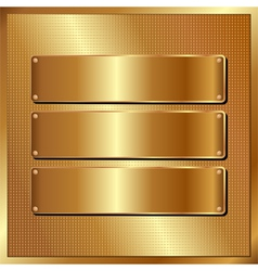 golden panel vector image