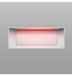 Gray niche for presentations vector image