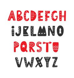 hand drawn folk scandinavian font vector image