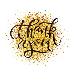 Hand drawn Thank you lettering typography poster vector