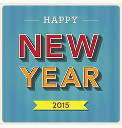 Happy new year retro poster vector image