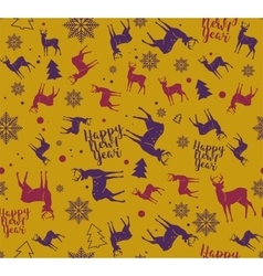 Happy New Year seamless pattern For wrapping vector image