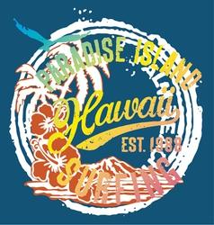 Hawaii paradise islands vector