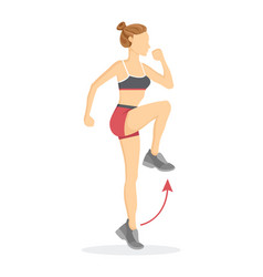 High knees exercise tabata vector