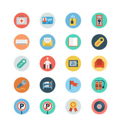Hotel and Restaurant Flat Colored Icons 6 vector image