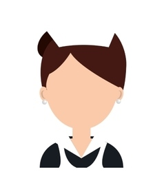 Hotel worker avatar isolated icon vector image