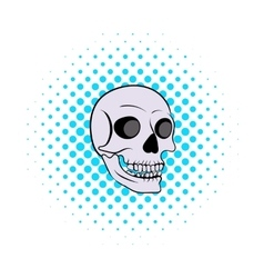Human skull icon comics style vector