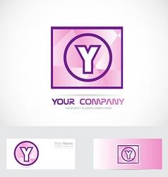 Letter Y purple logo vector image