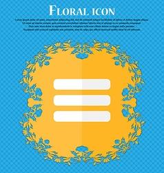 List menu Content view options Floral flat design vector image