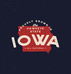 local farm retro grunge badge homegrown in iowa vector image