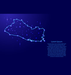 map el salvador from the contours network blue vector image