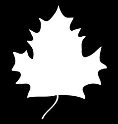 maple leaf white silhouette sign 308 vector image