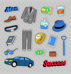 men success accessories and clothes set vector image
