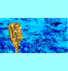 microphone on blues fire vector image