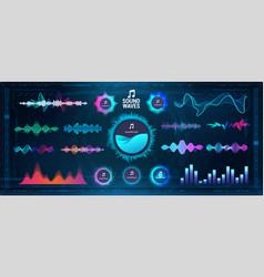 modern sound waves - equalizer futuristic vector image