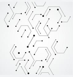 Molecular structure pattern background vector
