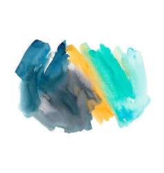 orange and turquoise watercolor background vector image