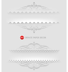 Ornamental decorative paper frames vector image