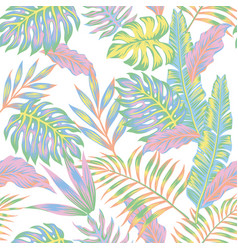 Pastel jungle white background vector