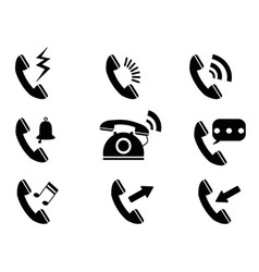 Phone ring icons vector