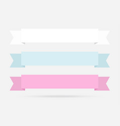 popular label ribbon pastel color banner origami vector image