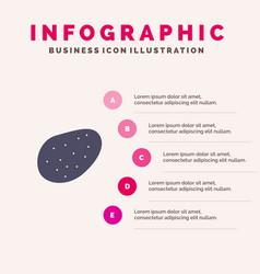 potato food solid icon infographics 5 steps vector image