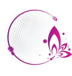 Purple Floral Frame vector