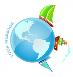 sailing world vector image