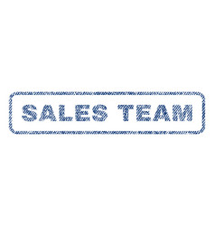 Sales team textile stamp vector