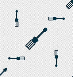 screwdriver icon sign Seamless pattern with vector image
