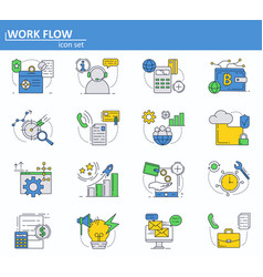 set business and digital money icons in vector image
