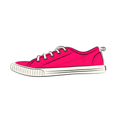 Sketch of sport shoes sneakers for summer vector